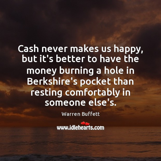 Image, Cash never makes us happy, but it's better to have the money