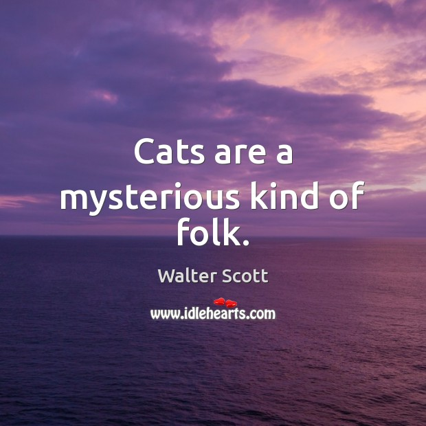 Cats are a mysterious kind of folk. Walter Scott Picture Quote