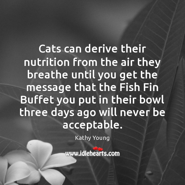 Cats can derive their nutrition from the air they breathe until you Image