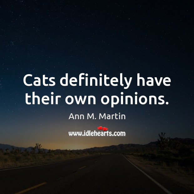 Image, Cats definitely have their own opinions.
