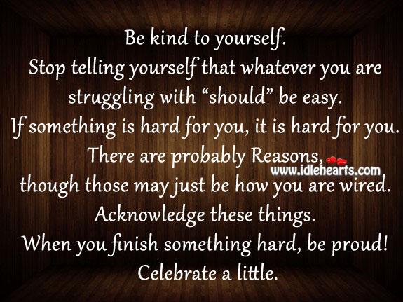 Be Proud! Celebrate A Little.