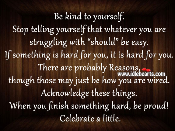 Be proud! celebrate a little. Image