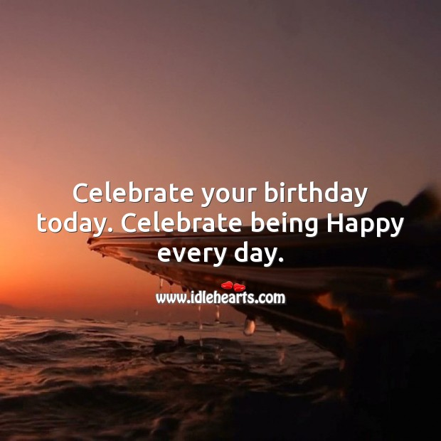 Celebrate being happy every day Image