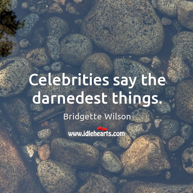 Celebrities say the darnedest things. Image