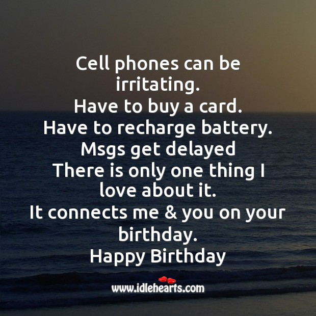 Cell phones can be irritating. Image