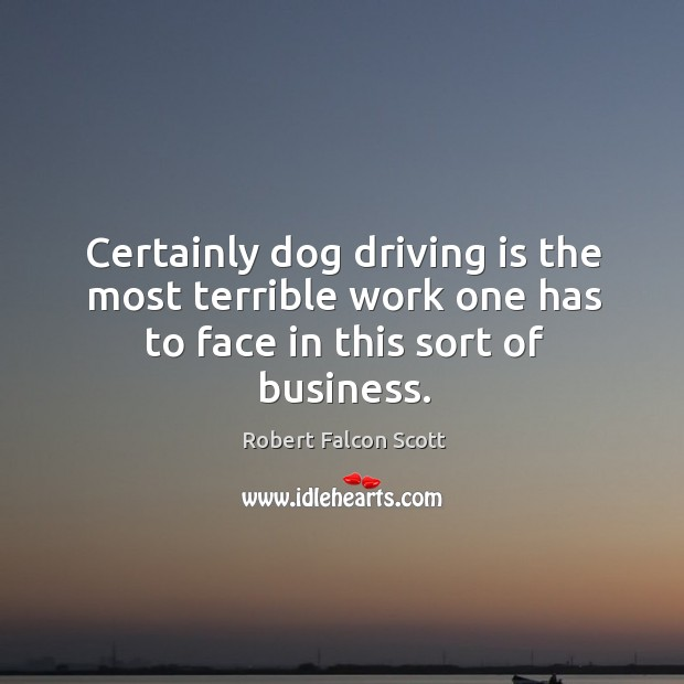 Certainly dog driving is the most terrible work one has to face in this sort of business. Image