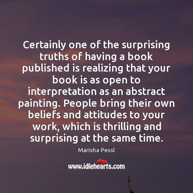 Image, Certainly one of the surprising truths of having a book published is