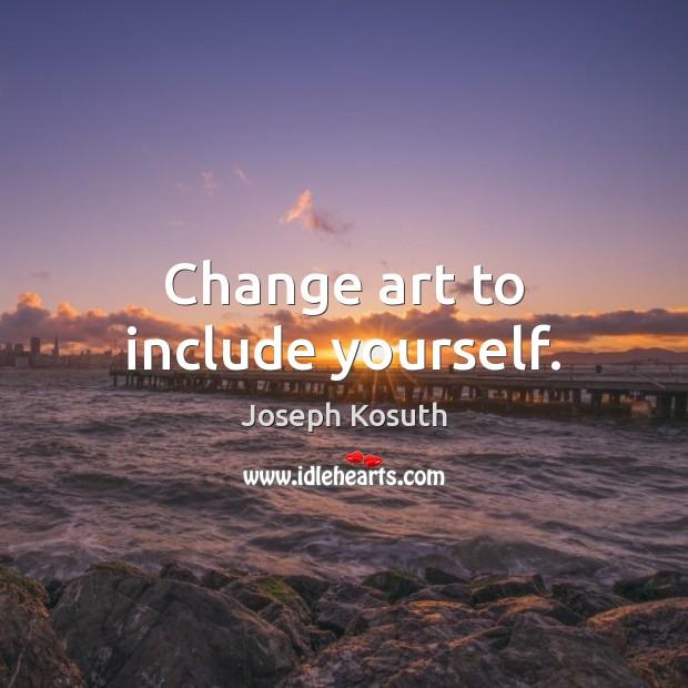 Change art to include yourself. Image