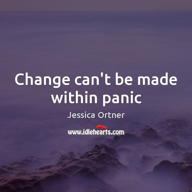 Change can't be made within panic Image