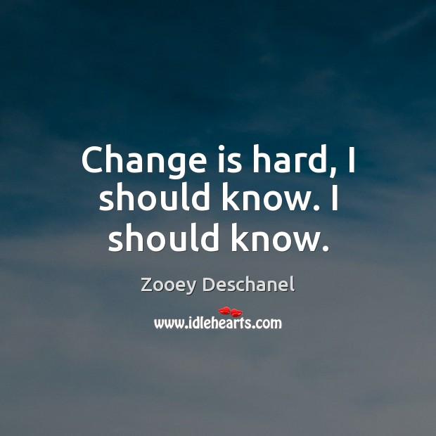 Image, Change is hard, I should know. I should know.