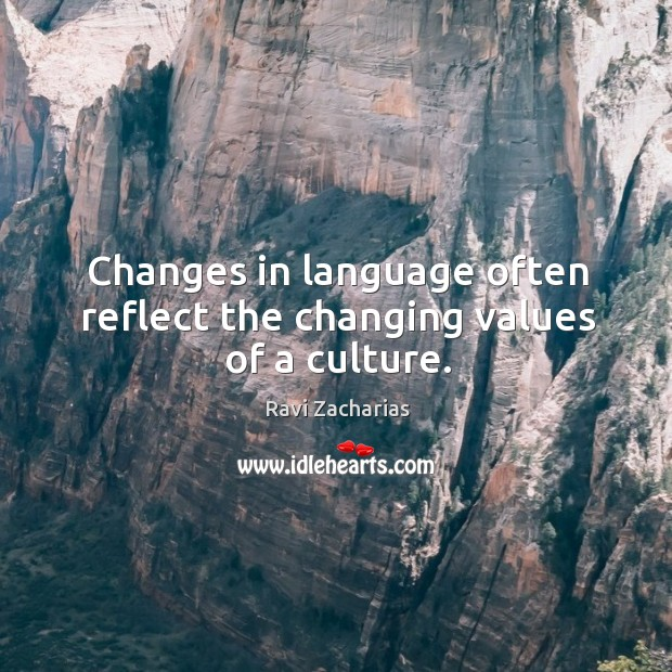 Image, Changes in language often reflect the changing values of a culture.