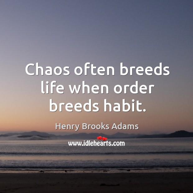 Chaos often breeds life when order breeds habit. Image