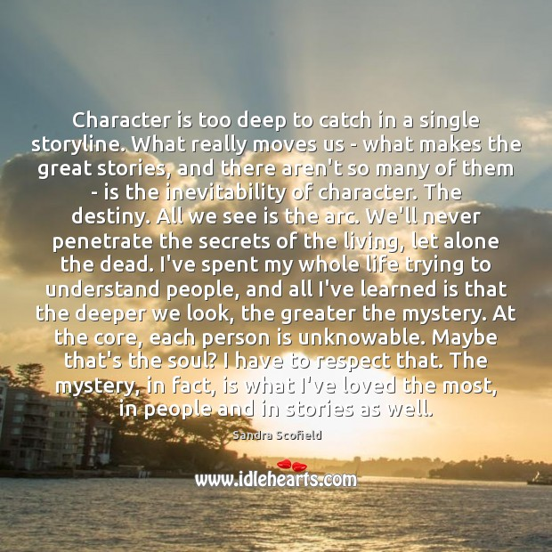Character is too deep to catch in a single storyline. What really Image