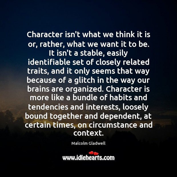 Image, Character isn't what we think it is or, rather, what we want