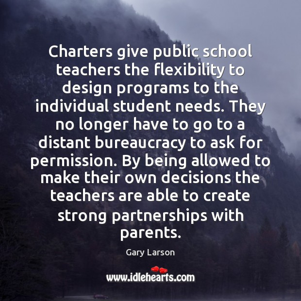 Image, Charters give public school teachers the flexibility to design programs to the