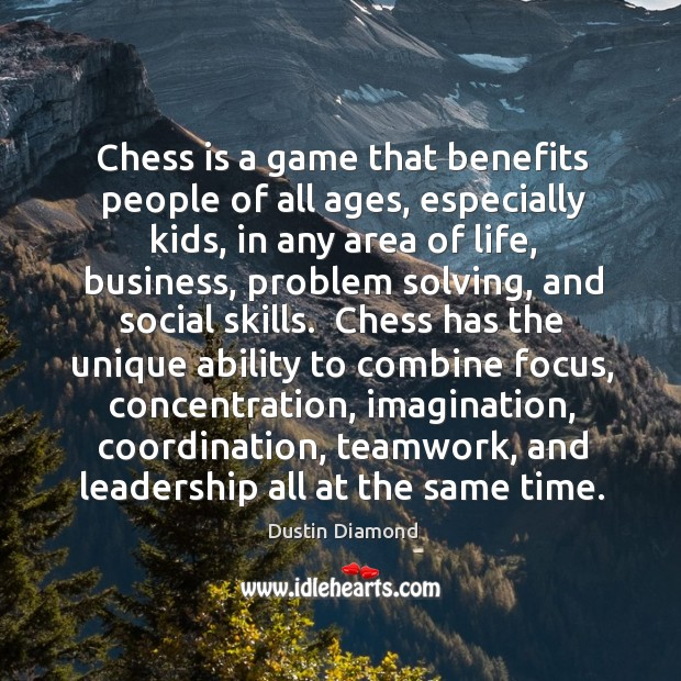 Chess is a game that benefits people of all ages, especially kids, Image