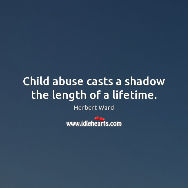 Image, Child abuse casts a shadow the length of a lifetime.