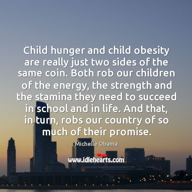 Image, Child hunger and child obesity are really just two sides of the
