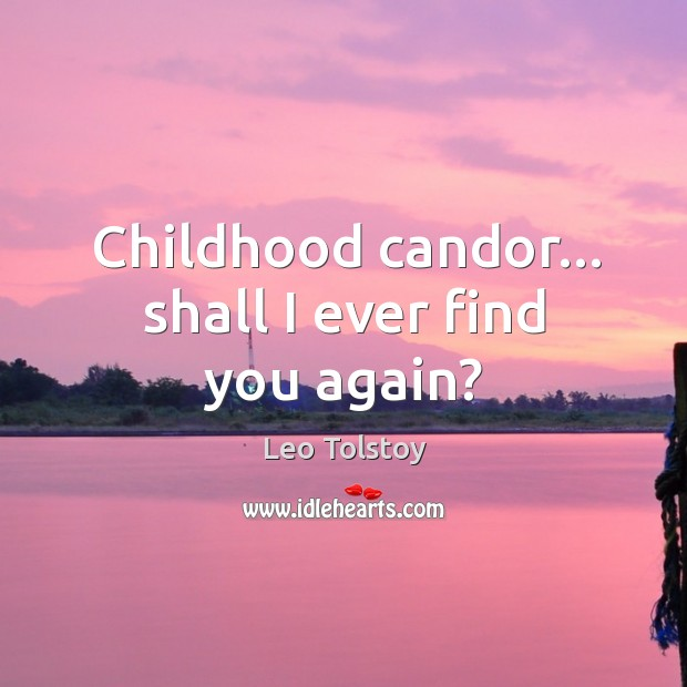 Childhood candor… shall I ever find you again? Image