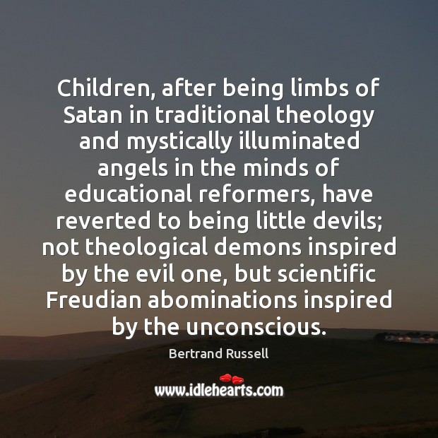 Image, Children, after being limbs of Satan in traditional theology and mystically illuminated