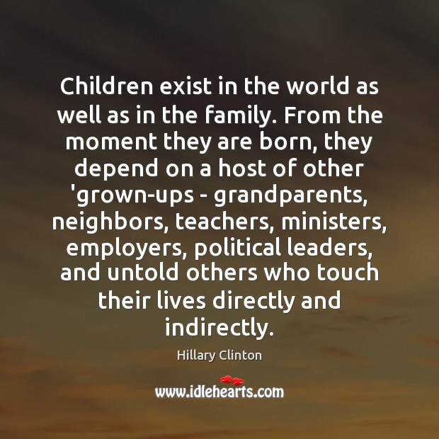 Children exist in the world as well as in the family. From Image