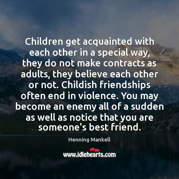 Image, Children get acquainted with each other in a special way, they do
