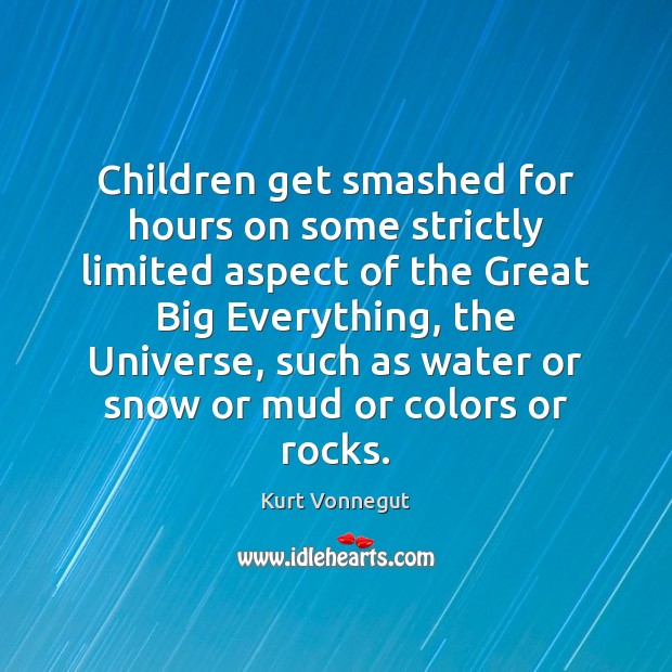 Children get smashed for hours on some strictly limited aspect of the Image