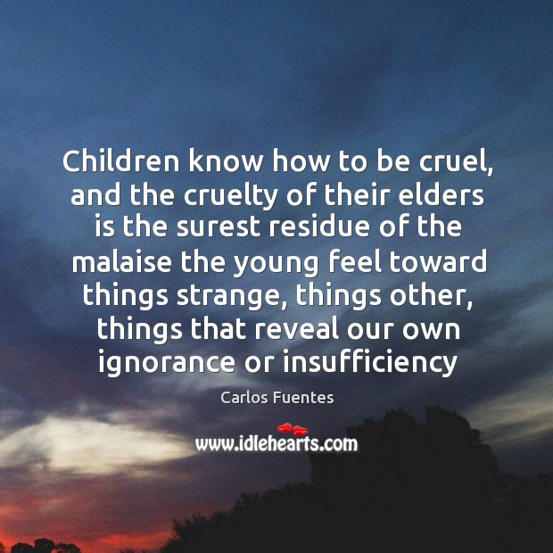 Image, Children know how to be cruel, and the cruelty of their elders