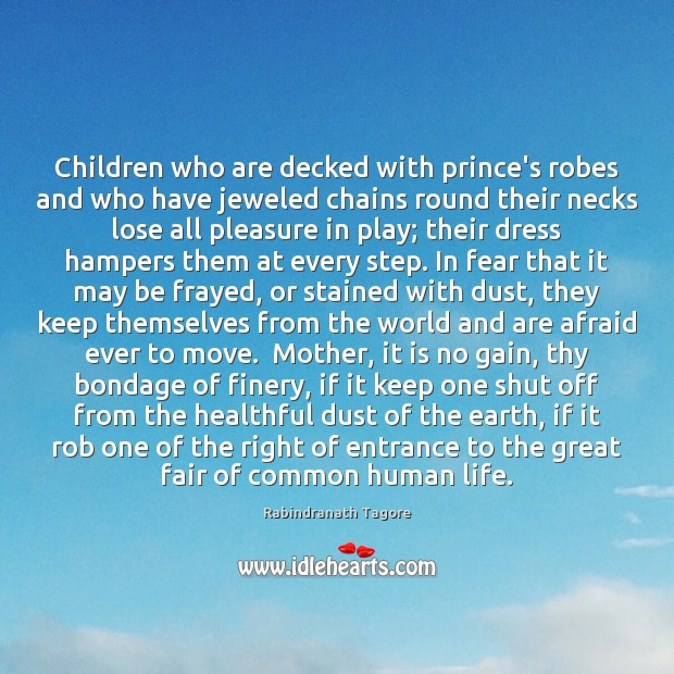 Image, Children who are decked with prince's robes and who have jeweled chains