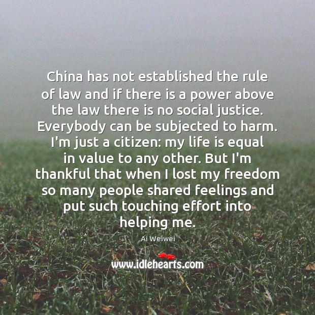 China has not established the rule of law and if there is Image