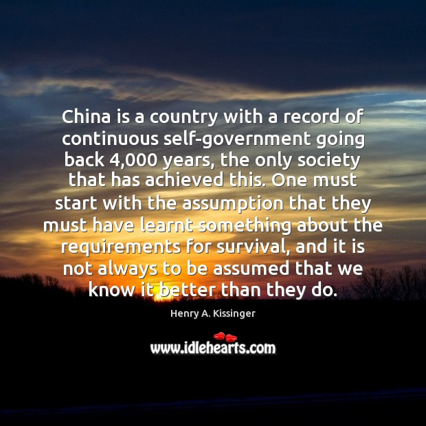 Image, China is a country with a record of continuous self-government going back 4,000