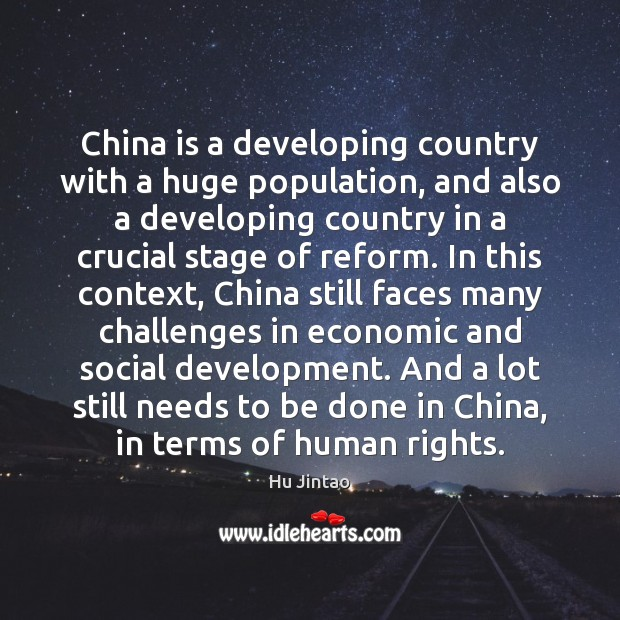China is a developing country with a huge population, and also a Image