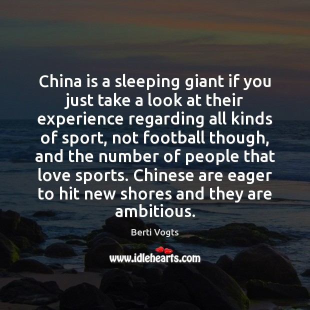 China is a sleeping giant if you just take a look at Image