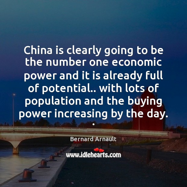 Image, China is clearly going to be the number one economic power and