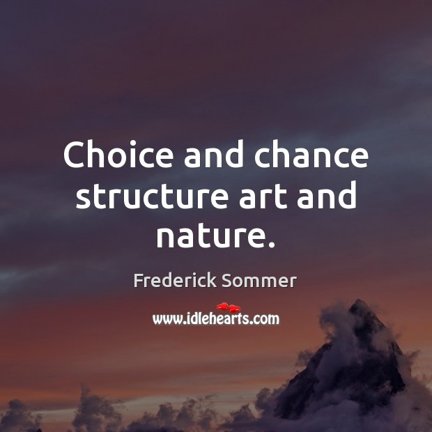 Image, Choice and chance structure art and nature.