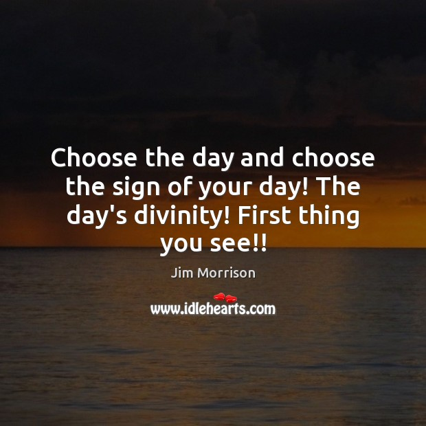 Image, Choose the day and choose the sign of your day! The day's divinity! First thing you see!!