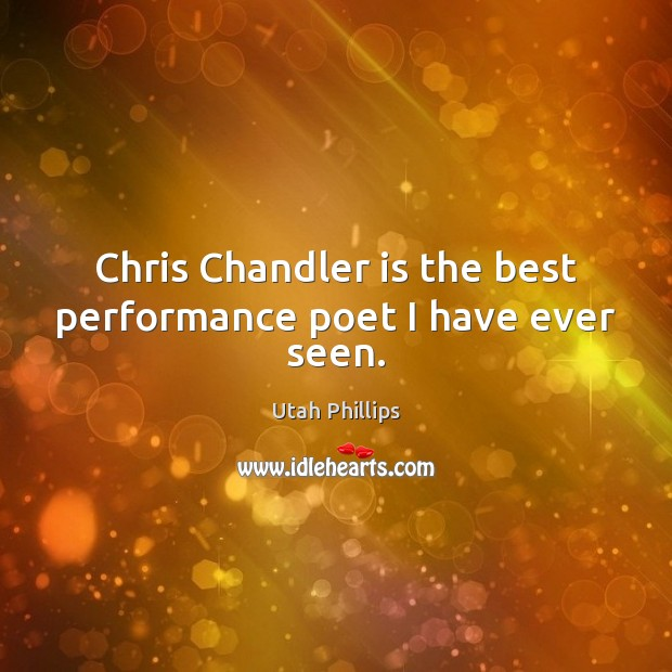 Chris Chandler is the best performance poet I have ever seen. Image