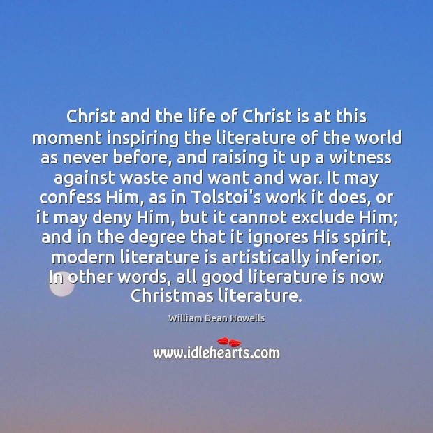 Image, Christ and the life of Christ is at this moment inspiring the