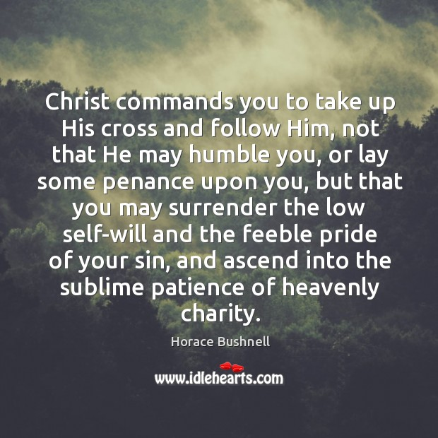 Image, Christ commands you to take up His cross and follow Him, not