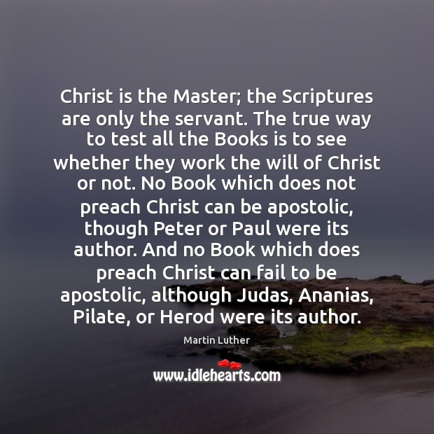 Christ is the Master