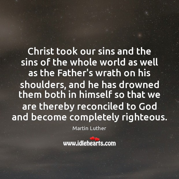 Christ took our sins and the sins of the whole world as Image