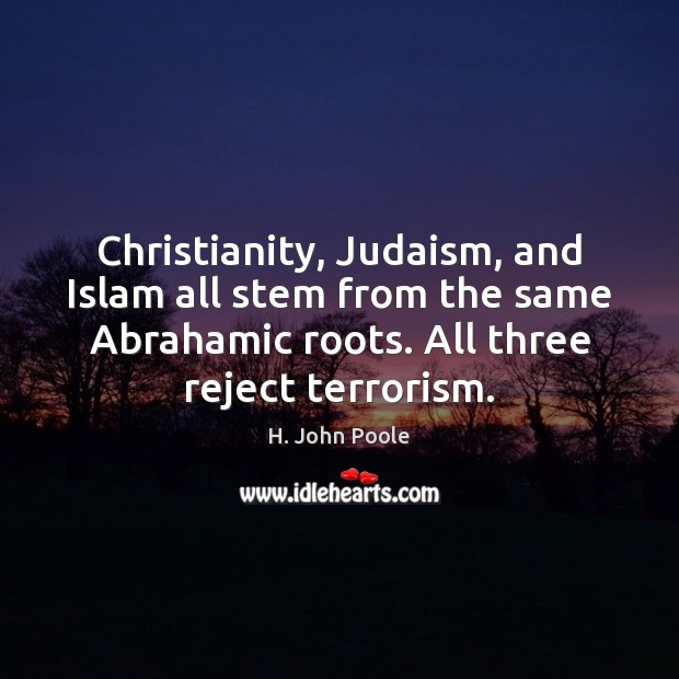 Christianity, Judaism, and Islam all stem from the same Abrahamic roots. All Image