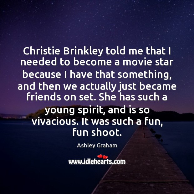 Image, Christie Brinkley told me that I needed to become a movie star