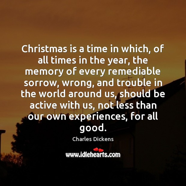 Image, Christmas is a time in which, of all times in the year,