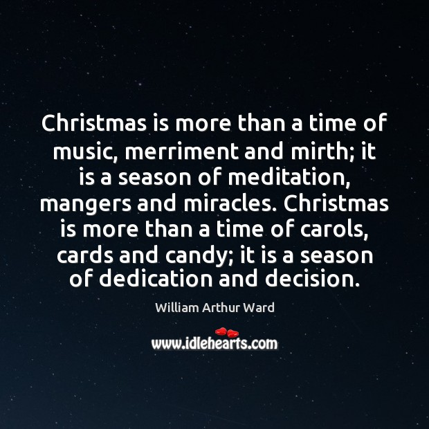 Image, Christmas is more than a time of music, merriment and mirth; it
