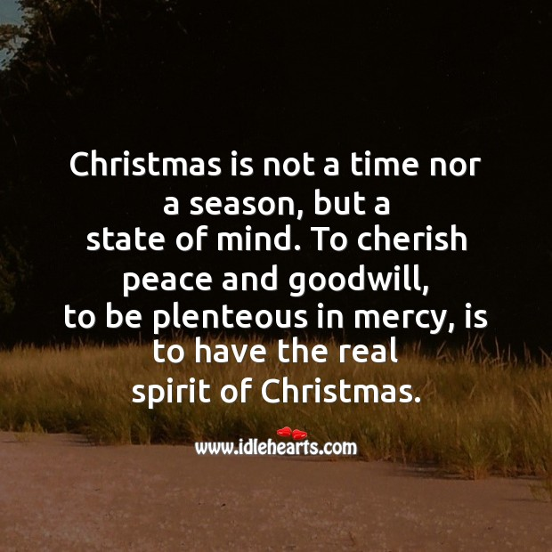 Christmas is not a time nor a season Christmas Messages Image