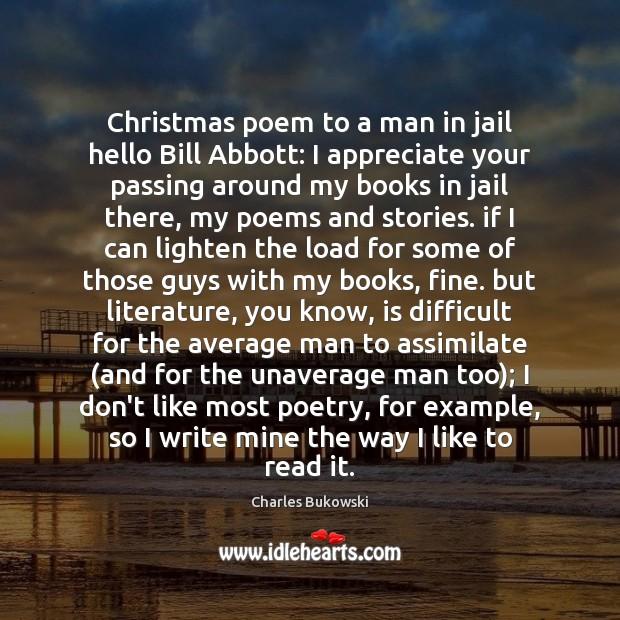 Christmas poem to a man in jail hello Bill Abbott: I appreciate Image