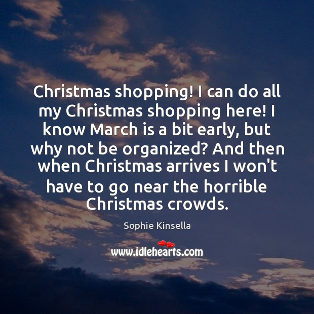 Image, Christmas shopping! I can do all my Christmas shopping here! I know
