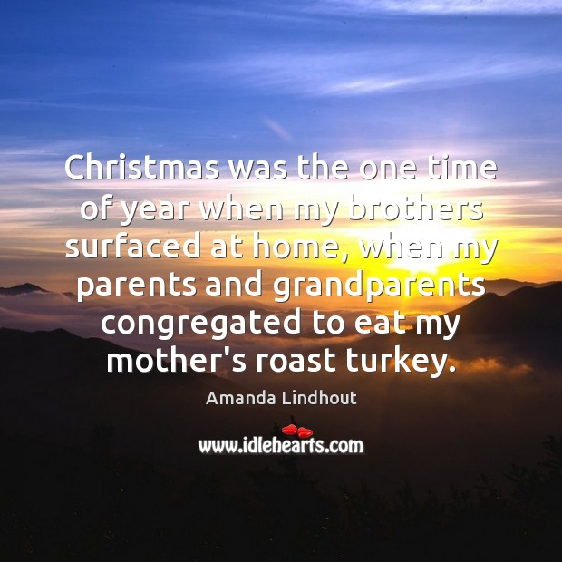 Christmas was the one time of year when my brothers surfaced at Amanda Lindhout Picture Quote
