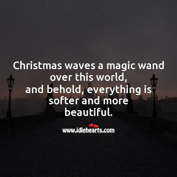 Christmas waves a magic Christmas Messages Image